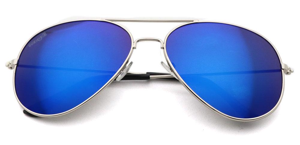 Sonnenbrille  Blau Silber Schwarz