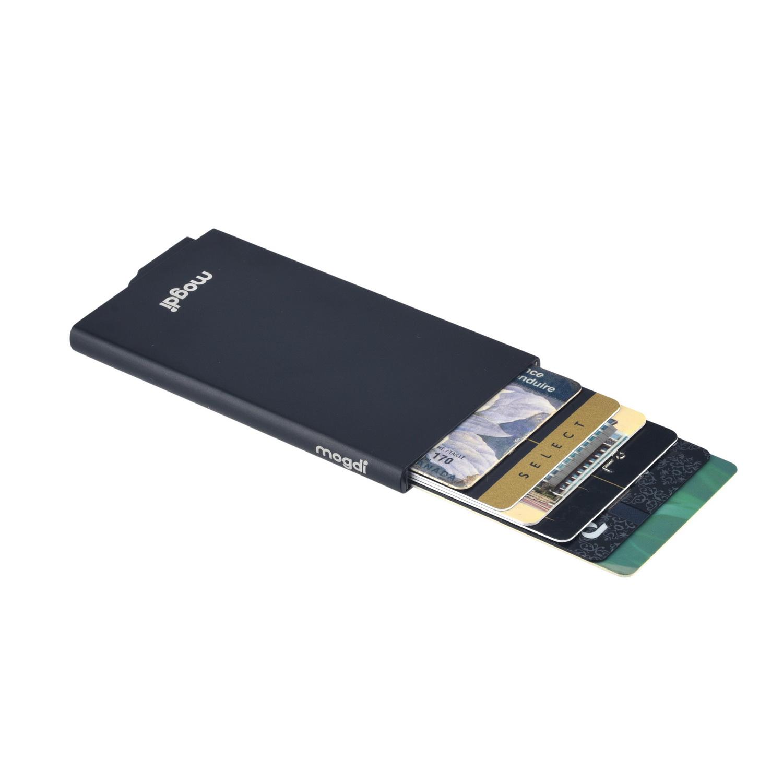PREMIUM schwarz RFID Blocker Kredit-Kartenetui Kopierschutz Alu Kartenhalter