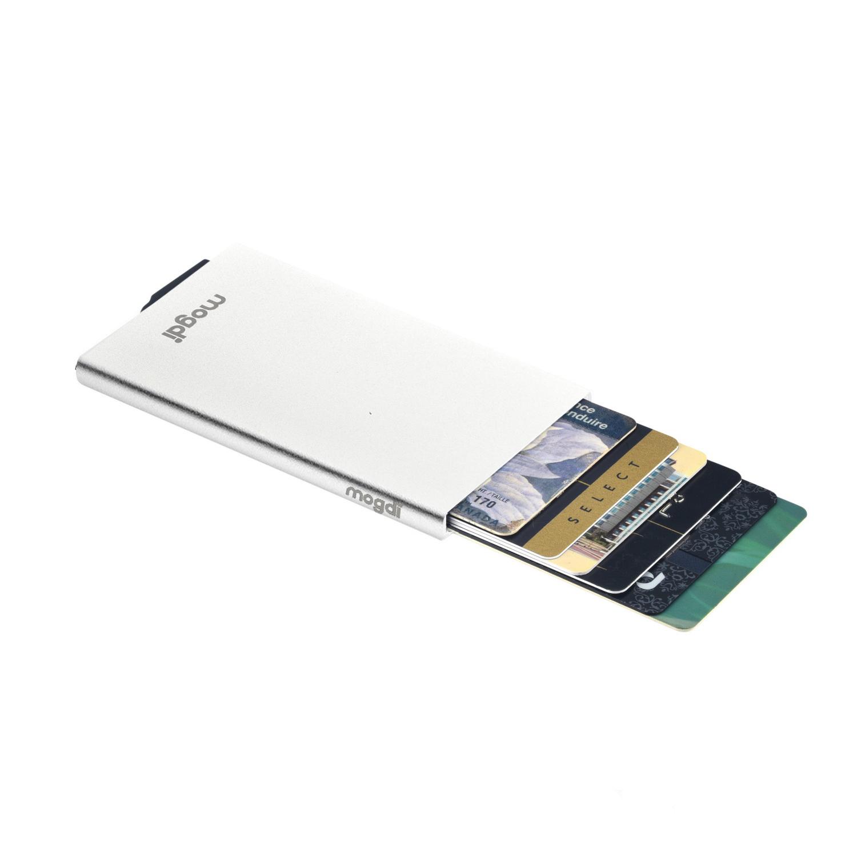 PREMIUM silber RFID Blocker Kartenetui Kreditkartenhalter Schutz Reise Protector