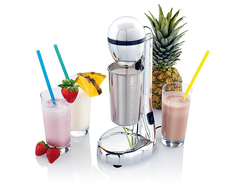 PROFI Elektrischer Drink Mixer mit Becher Cocktail mixen Milchschake Maschine
