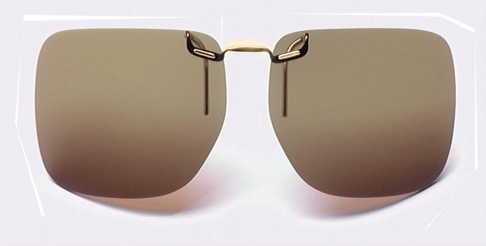 EDEL Brille Sonnenschutz Aufsatz Polarisierender Sonnenvorhänger Sport UV Schutz