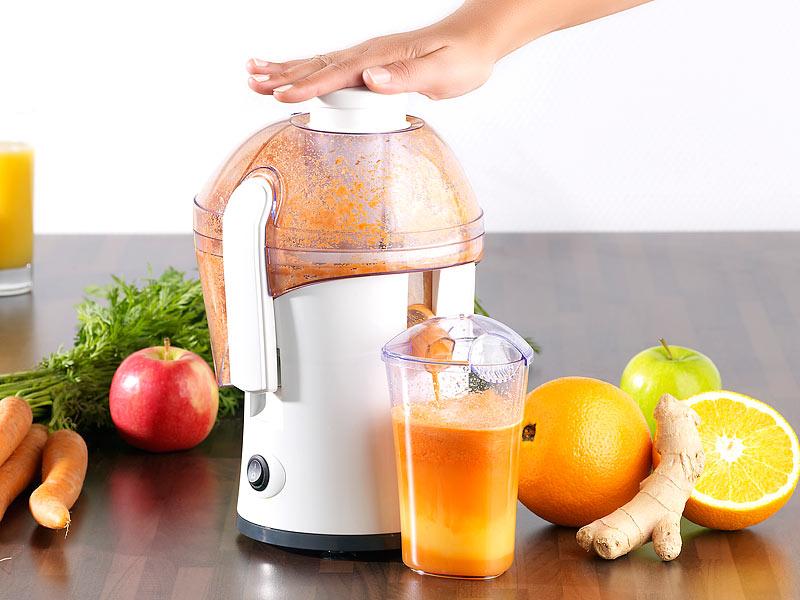 PROFI Elektrischer Entsafter frisch gepresster Orangensaft Apfelsinen Saft Apfel