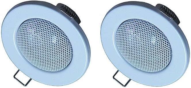 2x PROFI Deckeneinbaulautsprecher Deckenlautsprecher weiß BOX Decke Lautsprecher