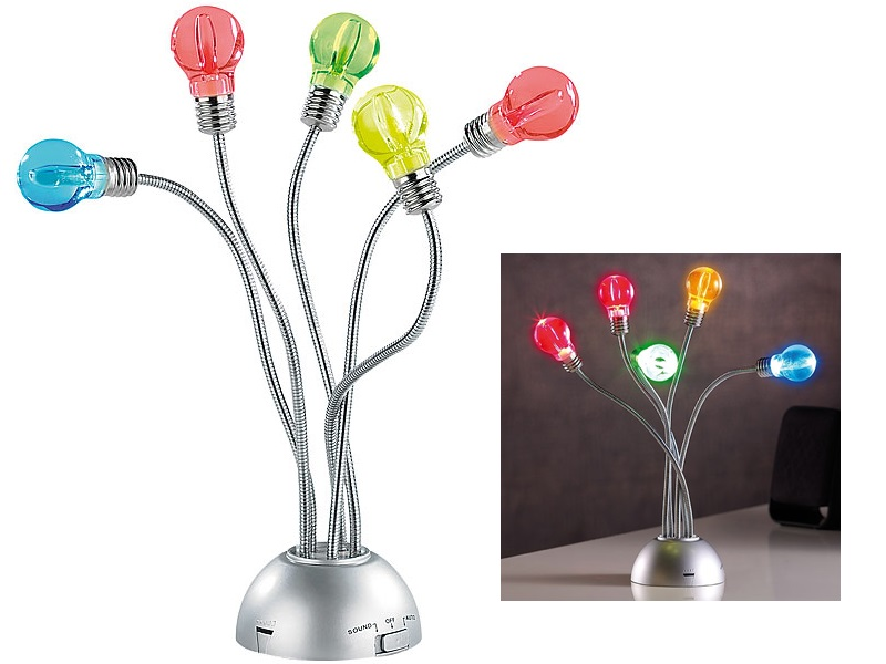 EDEL LED Lampe Licht Glühbirne Farbwechsel Sound Sensor DEKO Party Leuchte