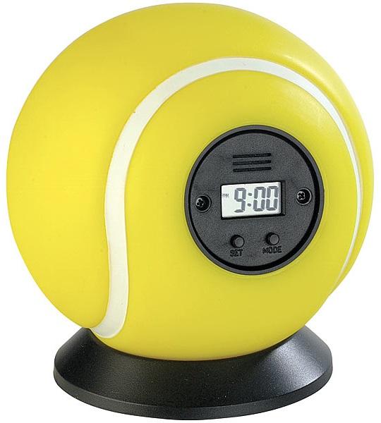 EDEL Tennis Wurfwecker Wecker Alarm Geschenk Tennisball Ball Uhr Kinder Bett