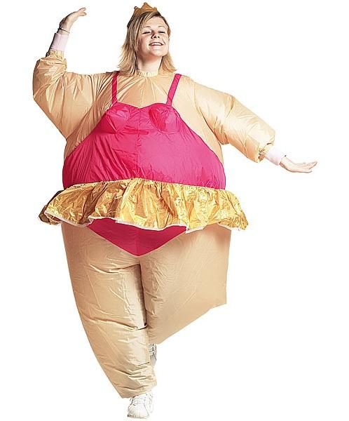 PREMIUM selbst Aufblasbares Kostüm BALLERINA Fasching Karneval Halloween