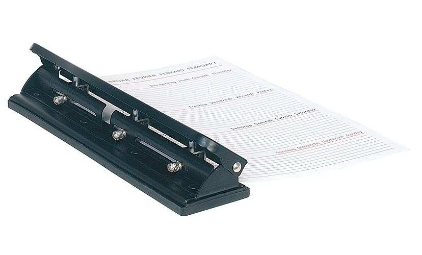 PROFI Locher 4 fach Mehrfach Vierfachlocher Doppellocher lochen Papier DIN A4