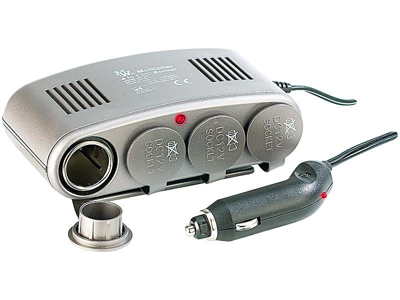 Auto Steckdose MP3 Navi TV 12V 4x Mehrfach Zigarettenanzünder Splitter Adapter