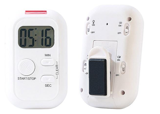PROFI Eieruhr Stoppuhr Wecker Timer Vibration ALARM Uhr Küchenuhr Badezimmer