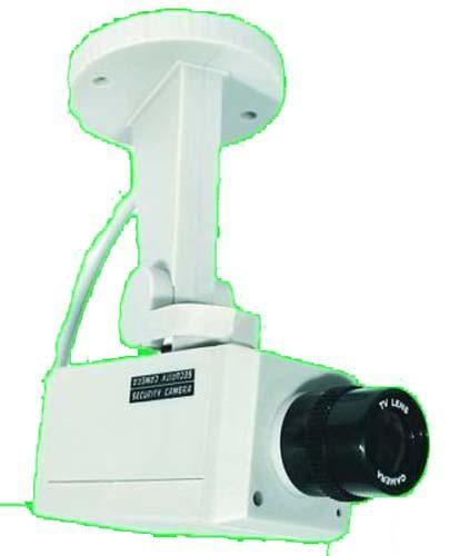 PROFI Kamera Attrappe Dummy WIE ECHT Schwenkbar mit LED