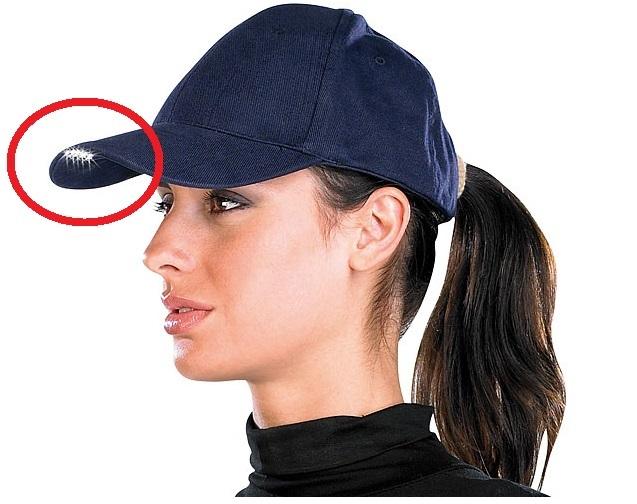 PROFI LED Baseballcap Baseball Cap Schirmmütze Mütze Arbeitsleuchte Jogger Licht