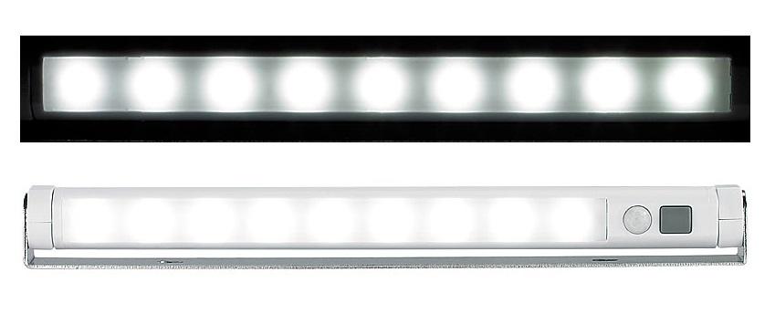 PROFI LED Lichtleiste Lampe Bewegungsmelder kaltweiß Licht schwenkbar kabellos