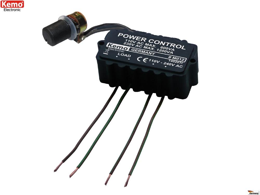 PROFI Leistungsregler 110 - 240 V/AC Regler Dimmer M012 Bohrmaschine Heizung