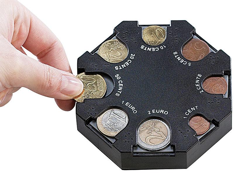 PROFI KREIS Münzsammler EURO Münzsortierer Münzbrett Münzen sortieren