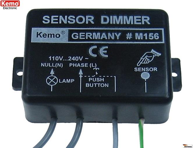 PROFI Sensor Leistungsregler Dimmer 230V/AC 1 kW M156 Lichtschweller Motor ohm
