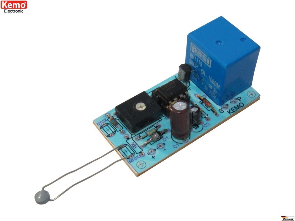 PROFI Temperatur Schalter 12 V/DC -30° / +150° Elektronischer Bausatz B048 Kemo
