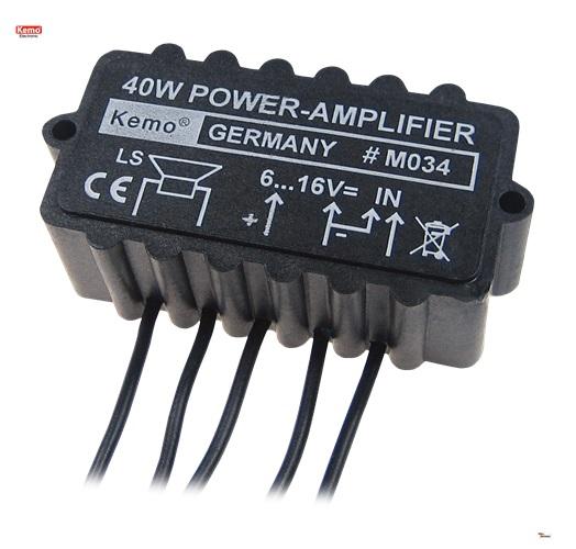 PROFI Verstärker 40 Watt universal amplifier M034 Audio Radio TON Auto Anlage