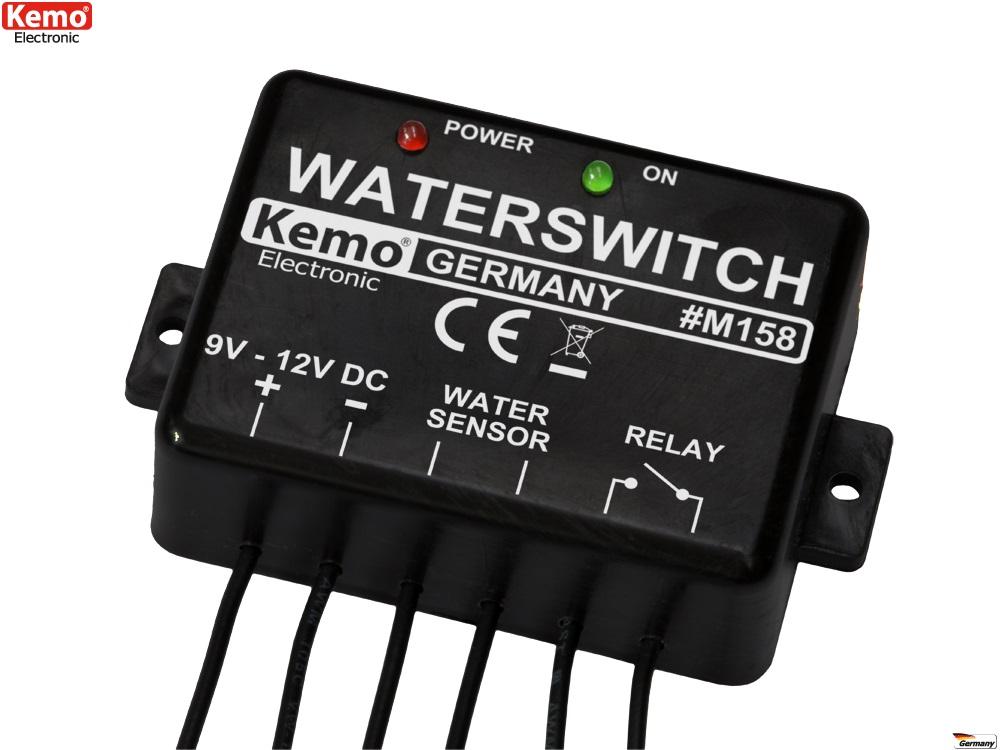 PROFI Wassermelder Wassersensor Alarm 9 - 12 V/DC M158 Wasser Hochstand Melder