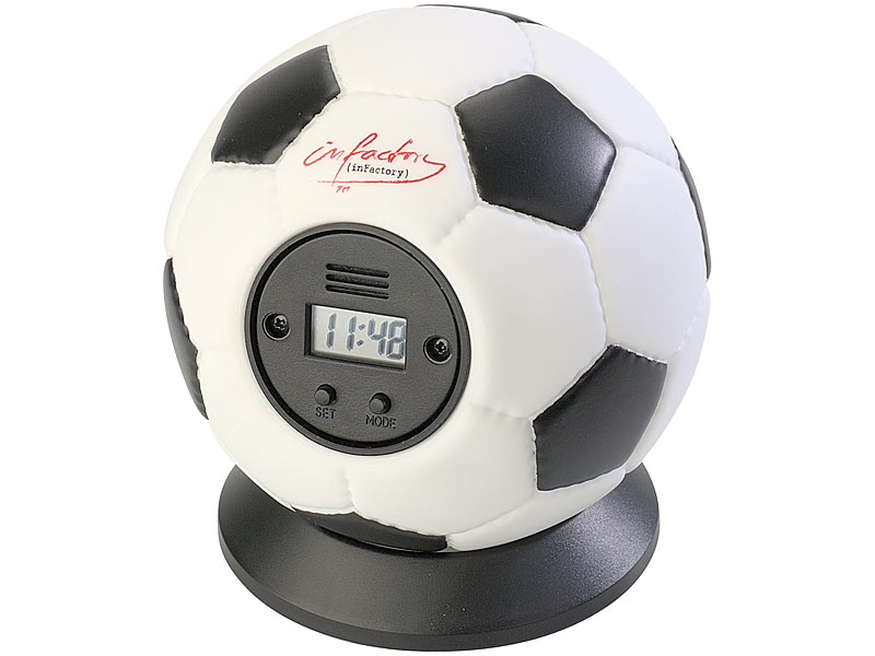 Wurfwecker Fußball KINDER Wecker zum werfen Geschenktipp Uhr Ball Alarm Schule