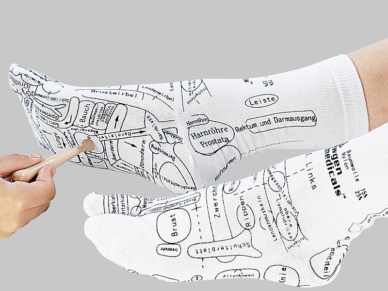 Akupressur Socken 38-46 + Akupunktur Stift Herren Damen Fußmassage Massage Füße