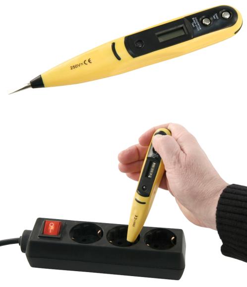 PROFI Digitaler Spannungsprüfer Stromtester Steckdose Batterie Spannungstester