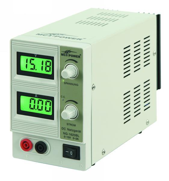 PROFI regelbares Labor Netzgerät 0-15V 2A 30W Netzteil Labornetzgerät NG-1620BL