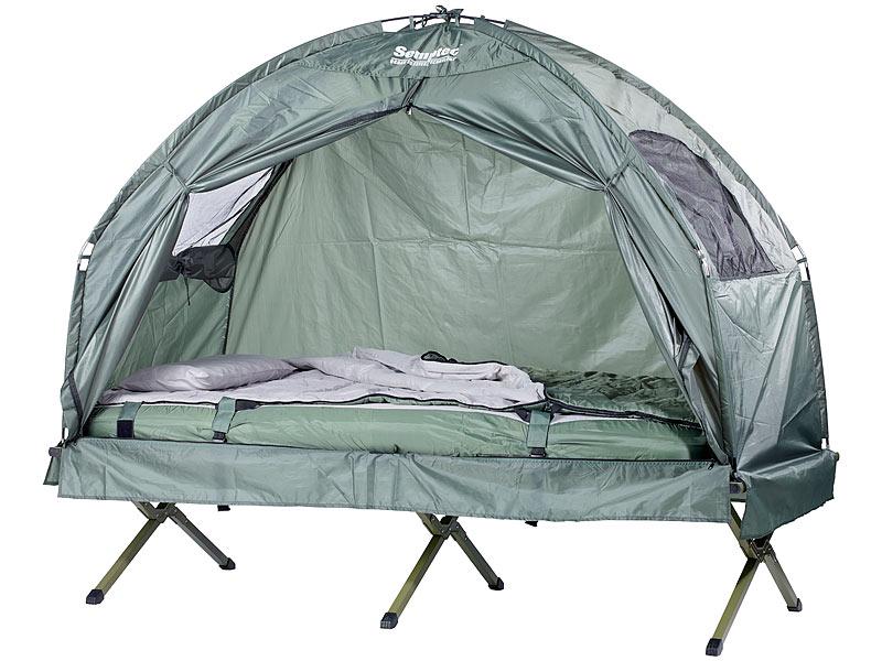 PREMIUM Feldbett Schlafsack Matratze Liege Luftmatratze Camping Zelt Wasserfest