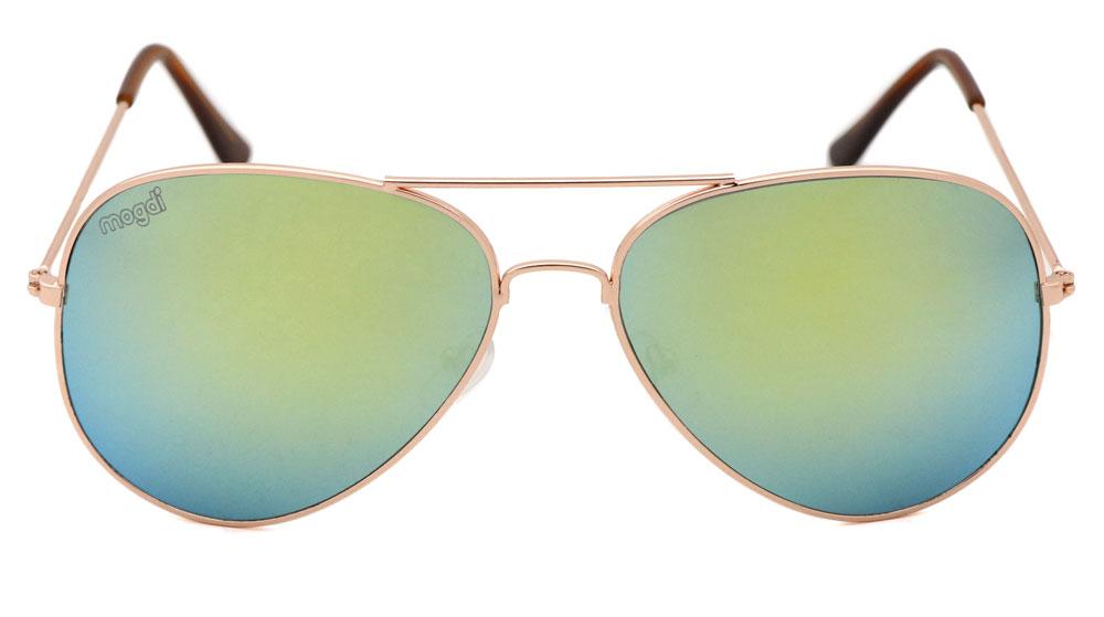 Sonnenbrille Gold Gold Braun