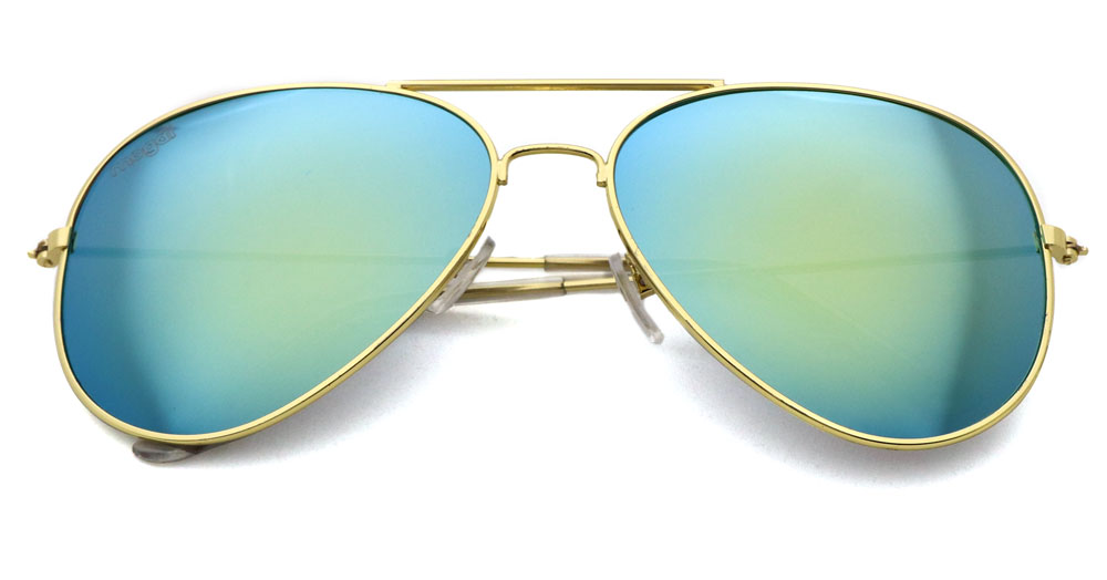 Sonnenbrille Gold Gold Transparent