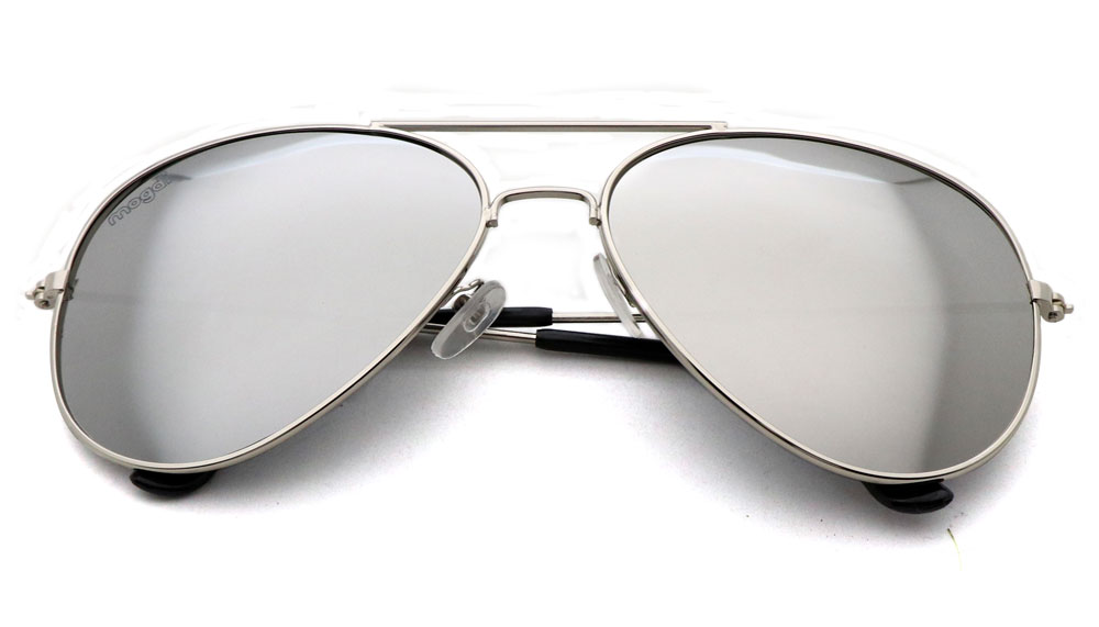 Sonnenbrille Grau Silber Schwarz