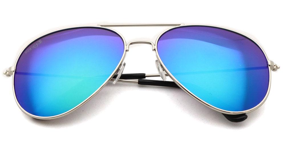Sonnenbrille Gruen Silber Schwarz
