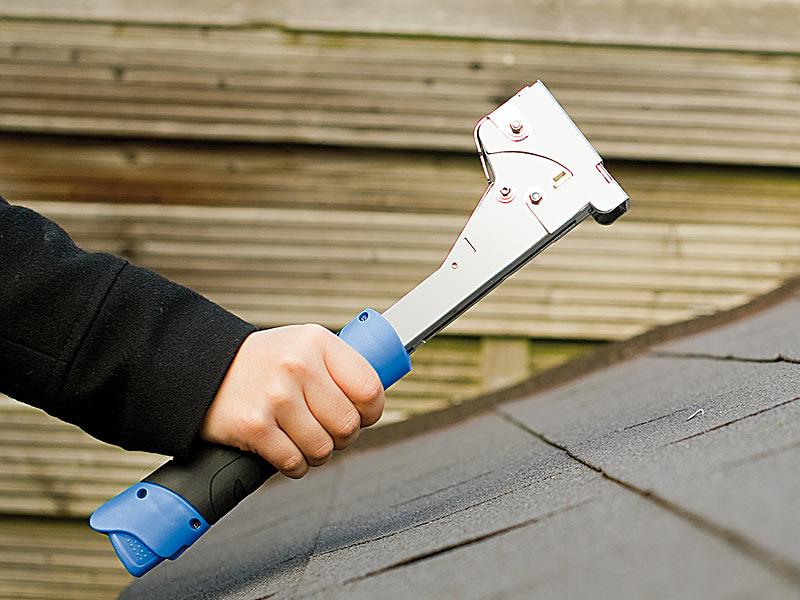 PROFI Stahl Hammertacker Tackernadeln 6-12mm Handtacker Tacker Hammer Dachpappe