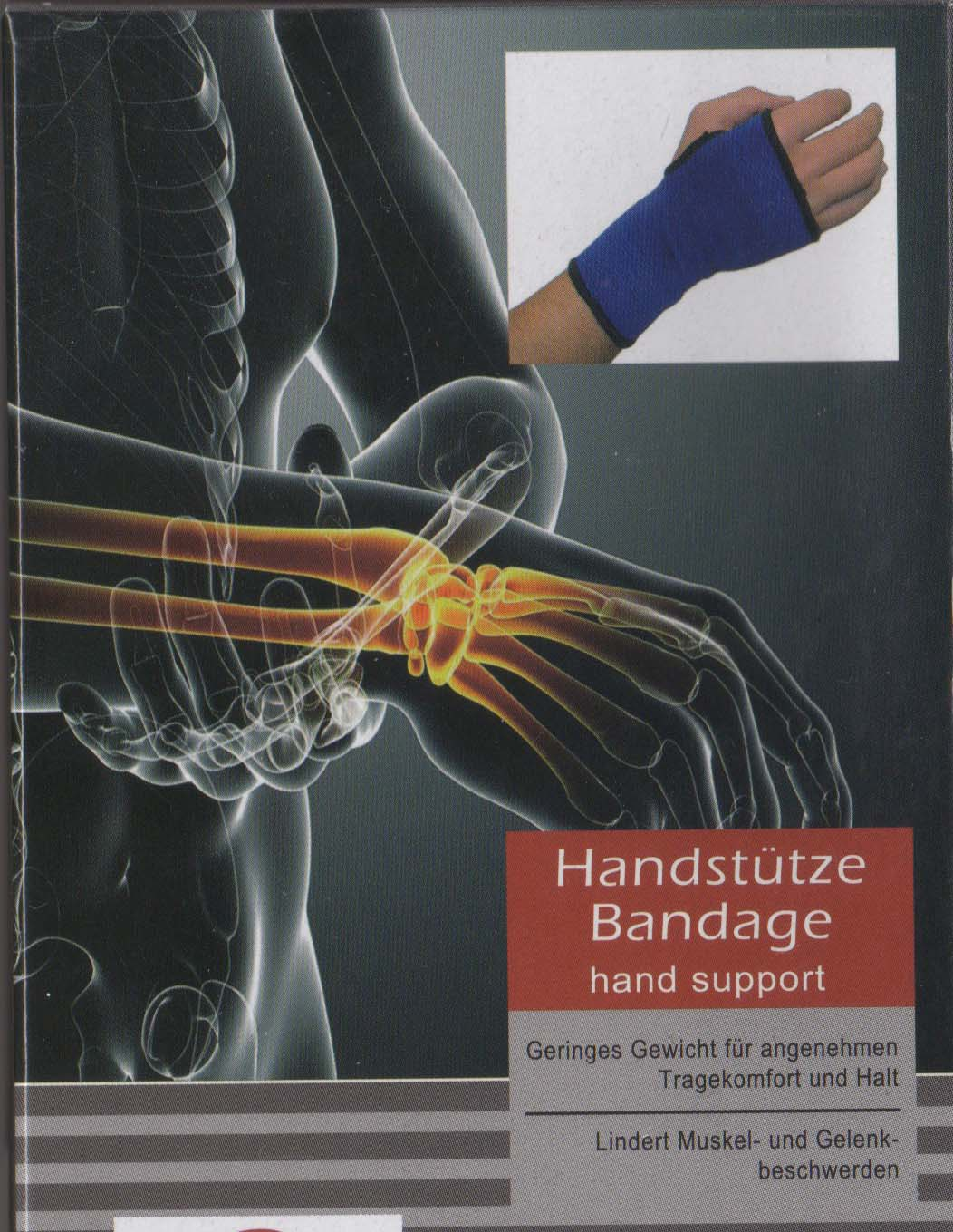 PROFI Handstütze Bandage Hand stützen Handgelenk Muskel lindert Gelenk Schmerzen