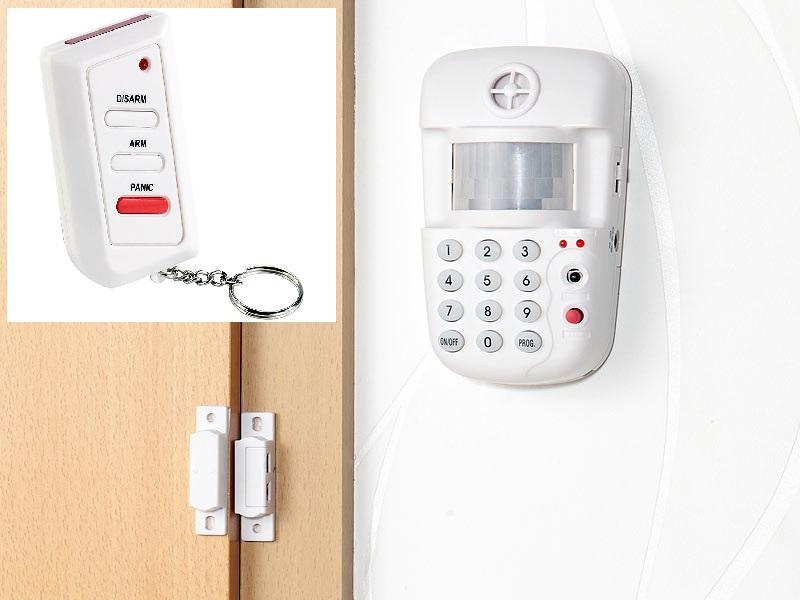 PRO Hausalarm Alarmanlage Bewegungsmelder Tür Fenster Sensor Fernbedienung Code