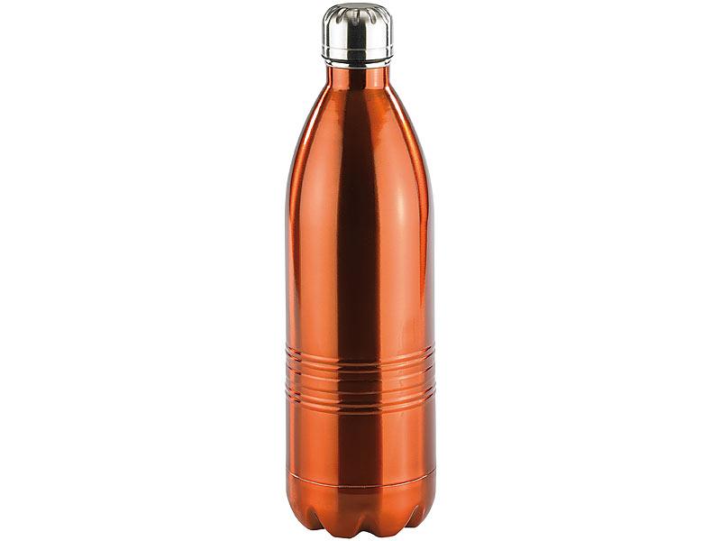 PREMIUM Isolierflasche 1 Liter 1L Trinkflasche Kühlflasche Thermoskanne Flasche