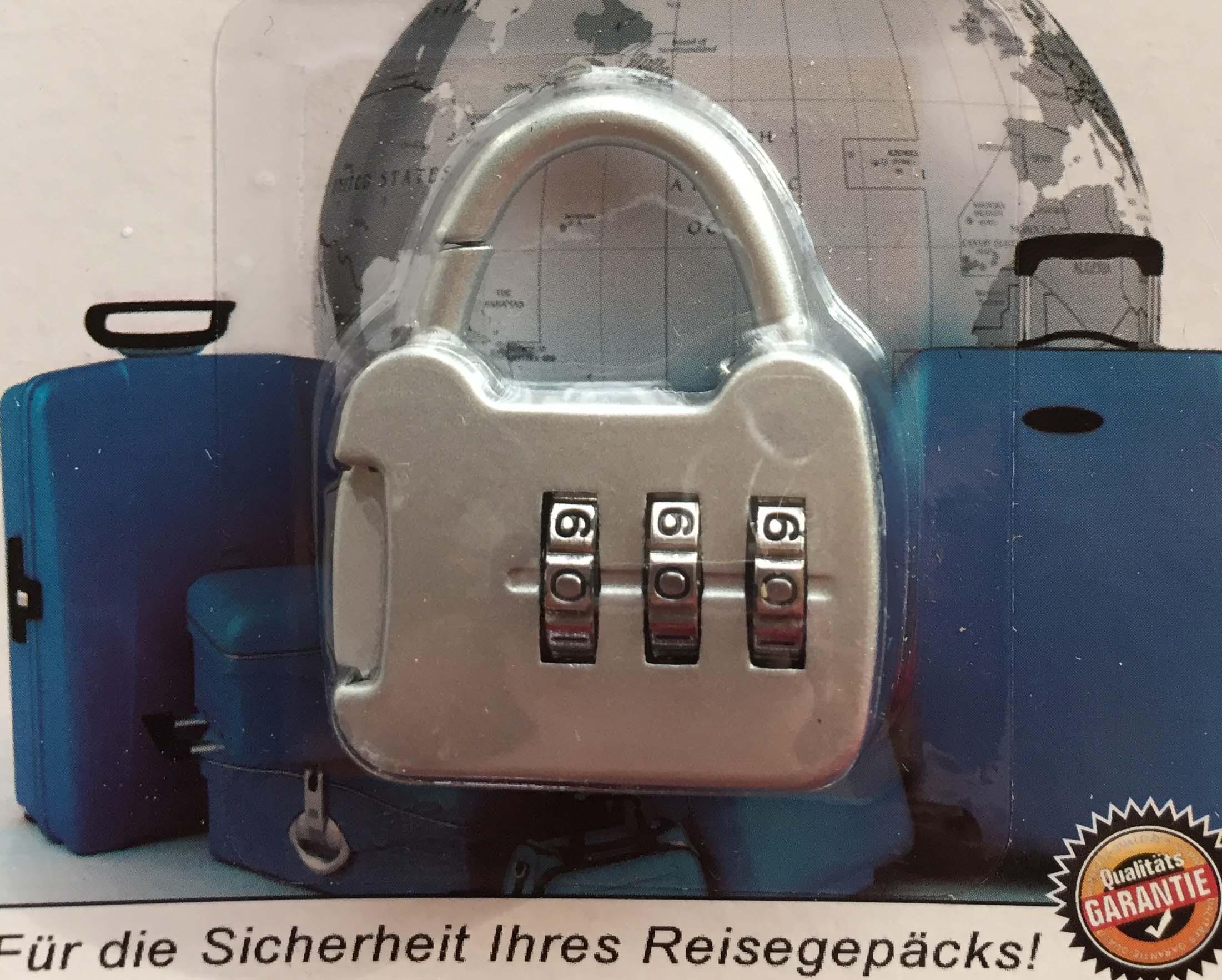 PRO Kofferschloss Schloss Reise Zahlenschloss Zahlenkombination Vorhängeschloss