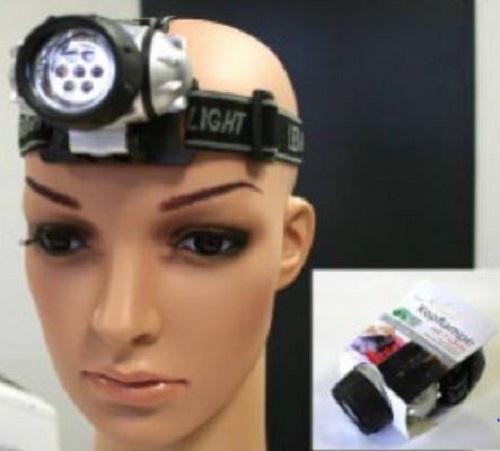 PROFI Stirnlampe Kopflampe 7 LED Stirnleuchte Kopfleuchte Jogging Taschenlampe