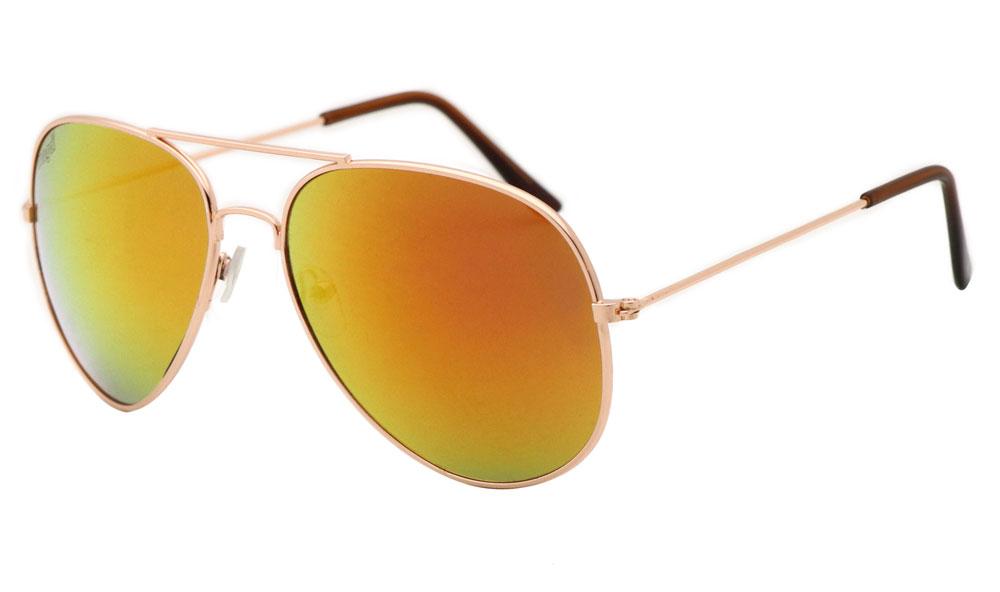 Sonnenbrille Lila-Rot Gold Braun