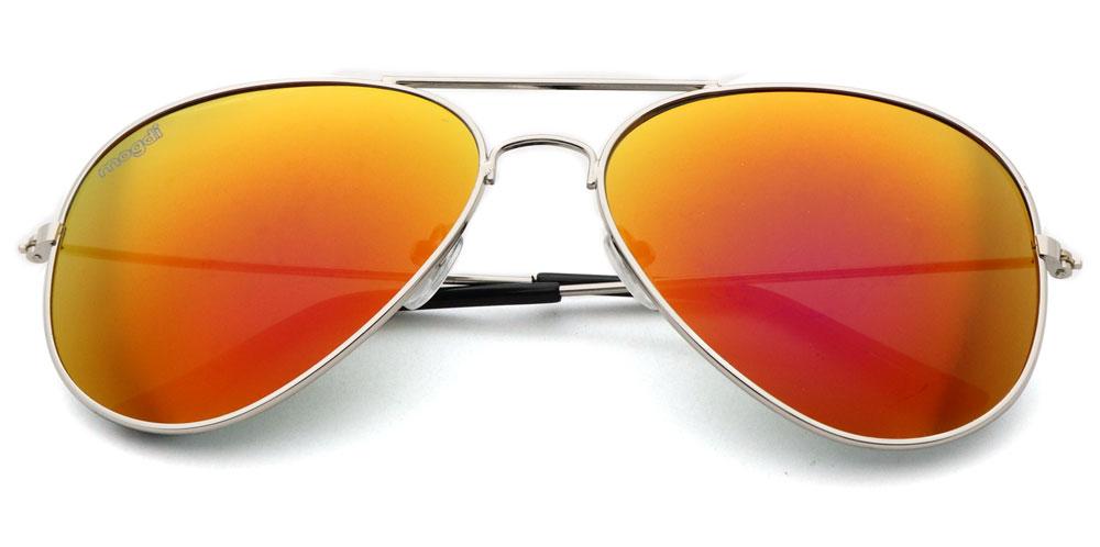 Sonnenbrille Lila-Rot Silber Schwarz