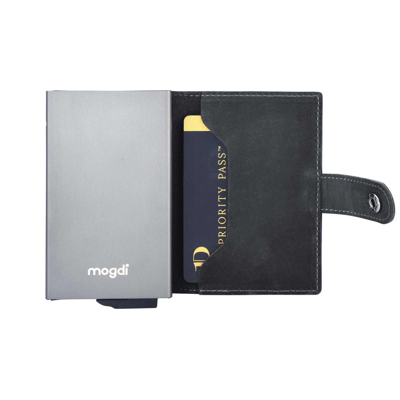 a2c03df2f7511 BLACK mini Männer Geldbeutel schwarz Herren Brieftasche anthrazit RFID  Blocker