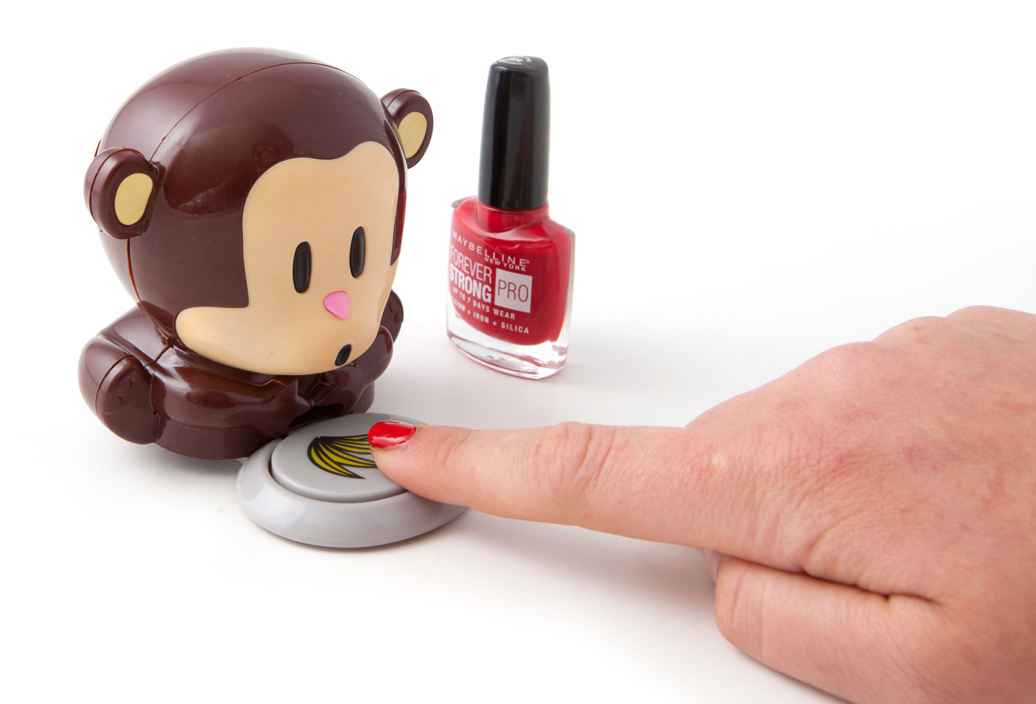 PROFI Nageltrockner lackierte Fingernägel Trockner schnell trocknen Affe Äffchen