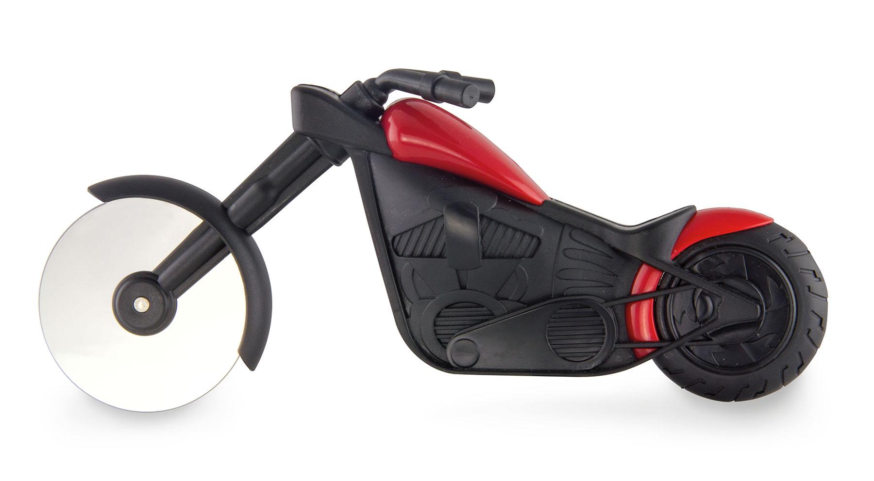 Profi XXL Motorrad Pizzaschneider Pizza schneiden Harley Chopper Cutter Geschenk