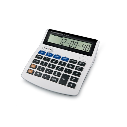 PROFI Sprechender Taschenrechner XXL Tischrechner Kopfhörer Rechner mit Ansage