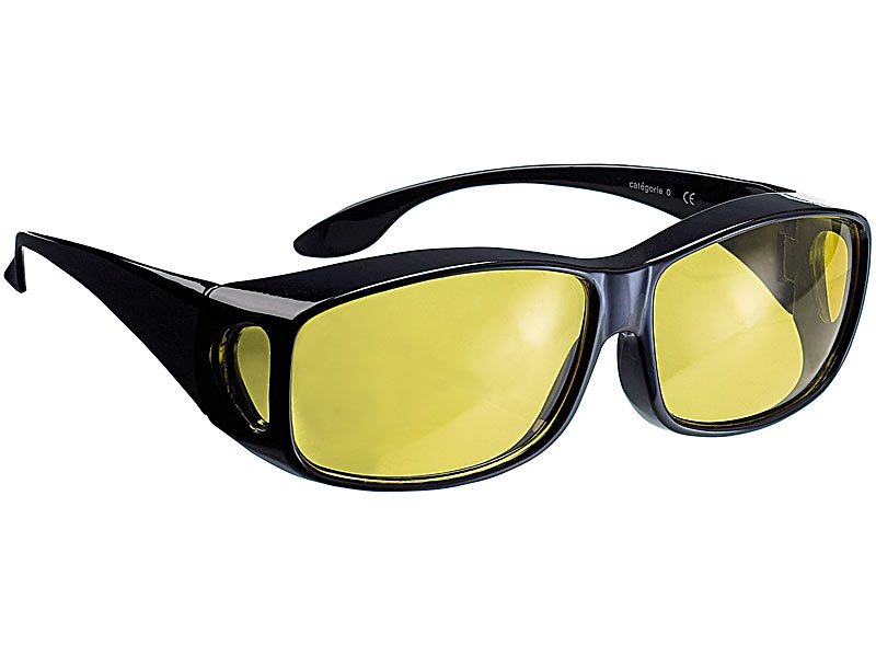 PROFI Auto Brille Kontrastbrille Motorrad Nachtsicht scharfes sehen im Dunkeln
