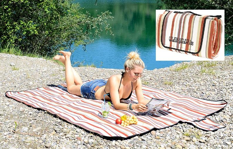 PREMIUM Fleece XXL Picknick-Decke wasserabweisend isoliert weiche moderne Tuch