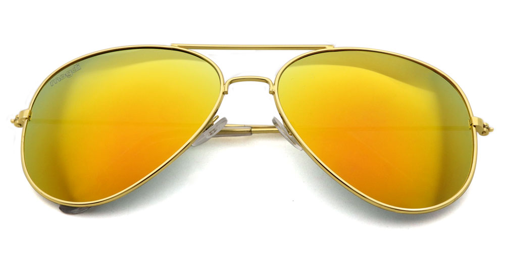 Sonnenbrille Orange Gold Transparent