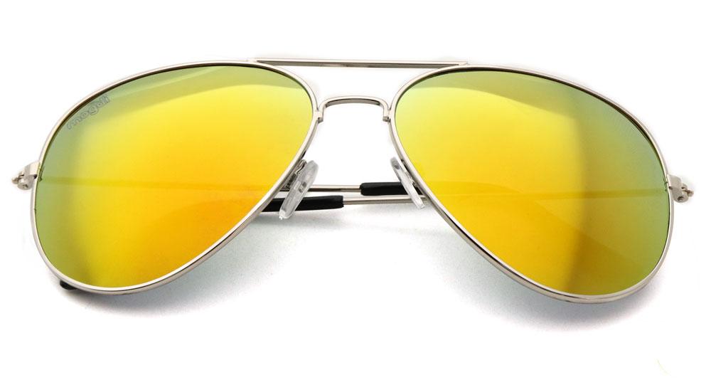 Sonnenbrille Orange Silber Schwarz