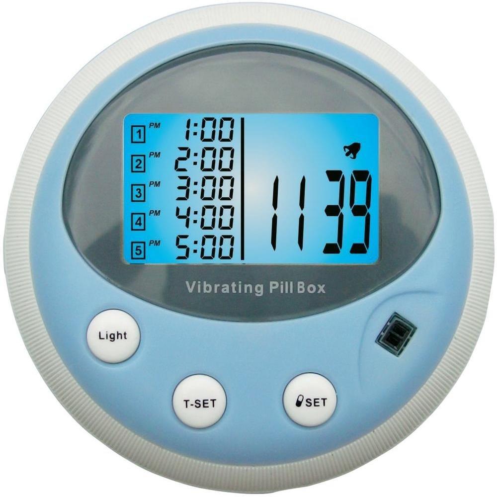 PROFI vibrierende Pillenbox Vibration Alarm Pillendose Pulsmesser Tablettenbox