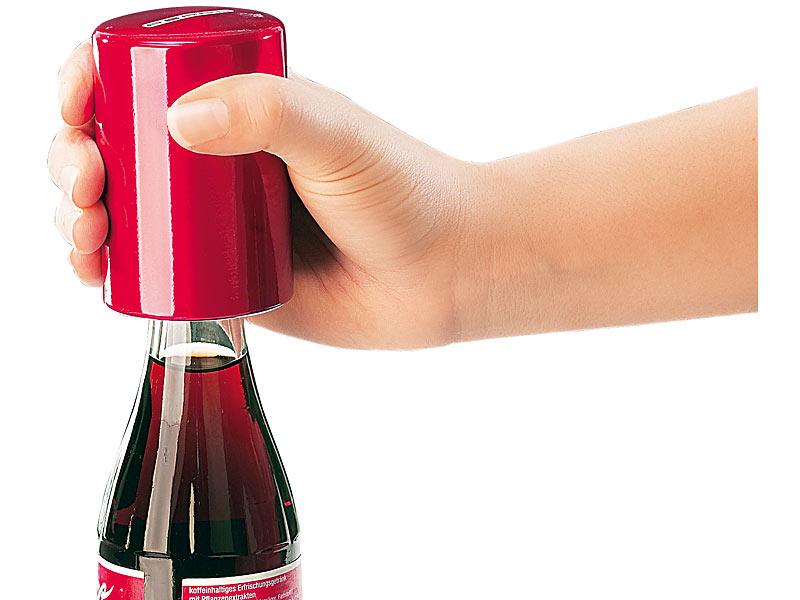 PROFI Flaschenöffner Kronkorken Druck Bierflasche mit einer Hand öffnen Deckel