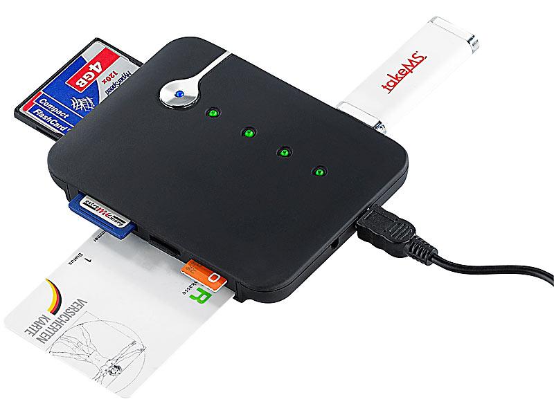 PROFI Kartenleser USB Chipkartenleser SIM Starmoney online banking PC HBCI SMART